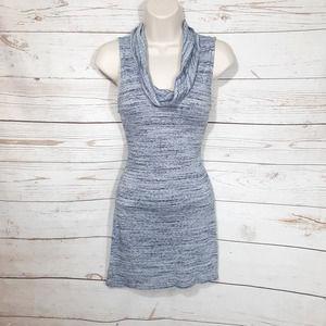 White House Black Market Blue Cowl Neck Mini Dress